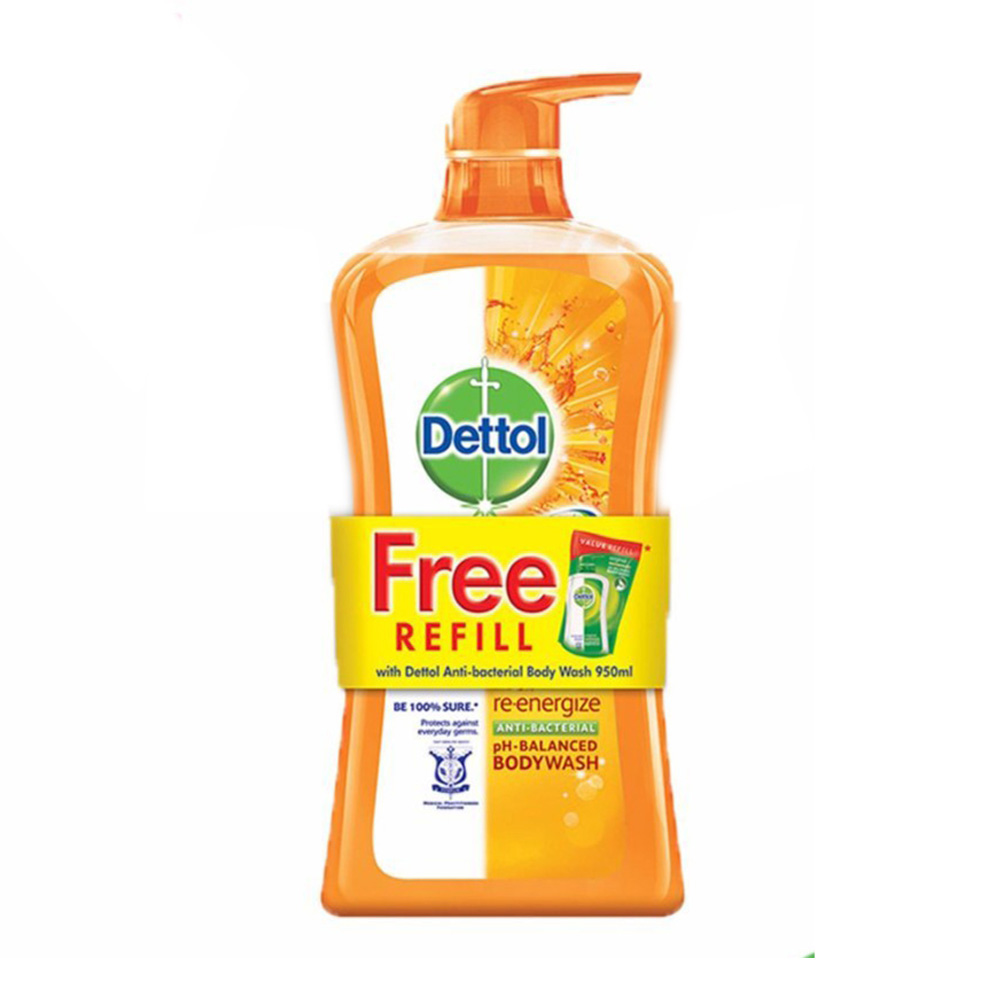 Dettol Shower Gel Re-energize 950ml + 250ml