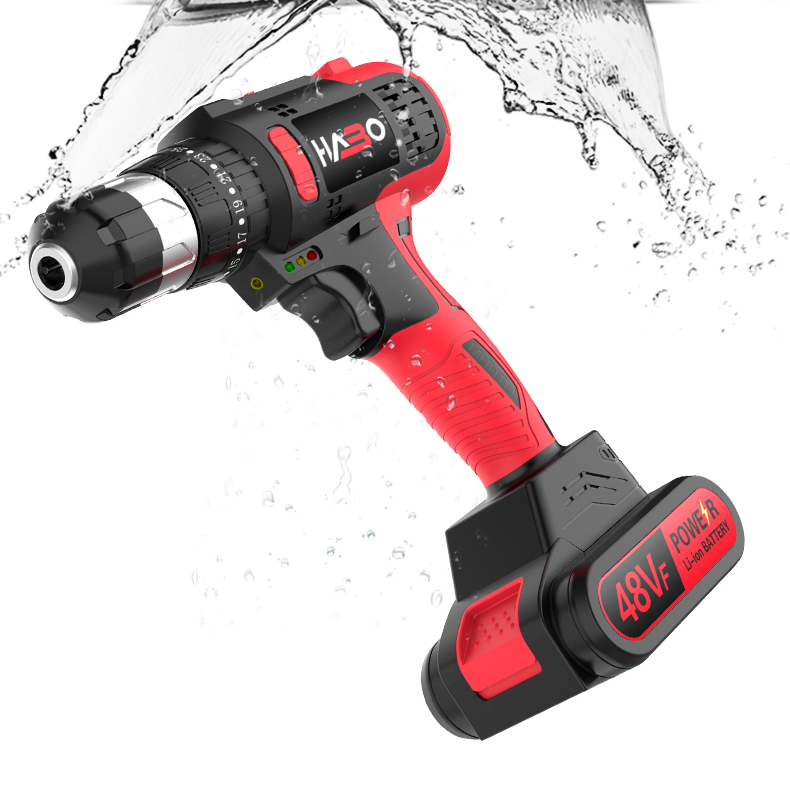 16.8V Double Speed Brushless Cordless Drill with 1 Battery - Original HABO 48VF Handheld Electric Drill - FREE Drill Storage Box, FREE Drill Bits