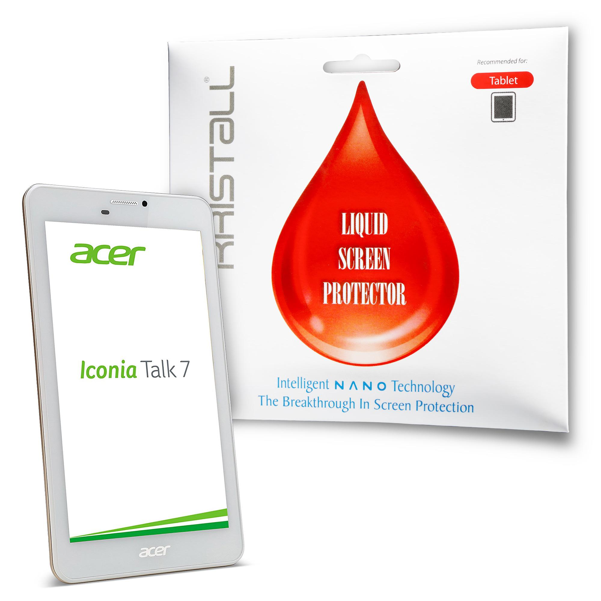 Acer Iconia Talk 7 Tablet Screen Protector - Kristall® Nano Liquid Screen Protector (Bubble-FREE Screen Protector, 9H Hardness, Scratch Resistant)