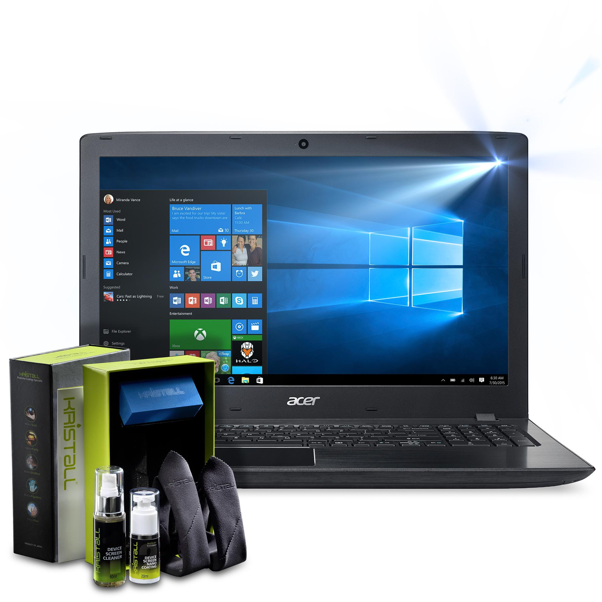 Acer Aspire E Laptop Screen Protector - Kristall® 9H Hardness Full Coverage Liquid Nano Coating Screen Protector for Laptop Screens (Bubble-FREE Screen Protector, EASY to Apply, Edge-to-Edge Full Coverage Protection)